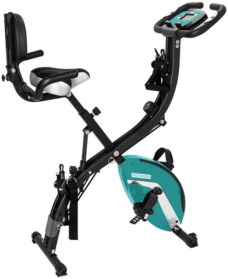 PEXMOR 3 in 1 Folding Indoor Cycling Exercise Bike