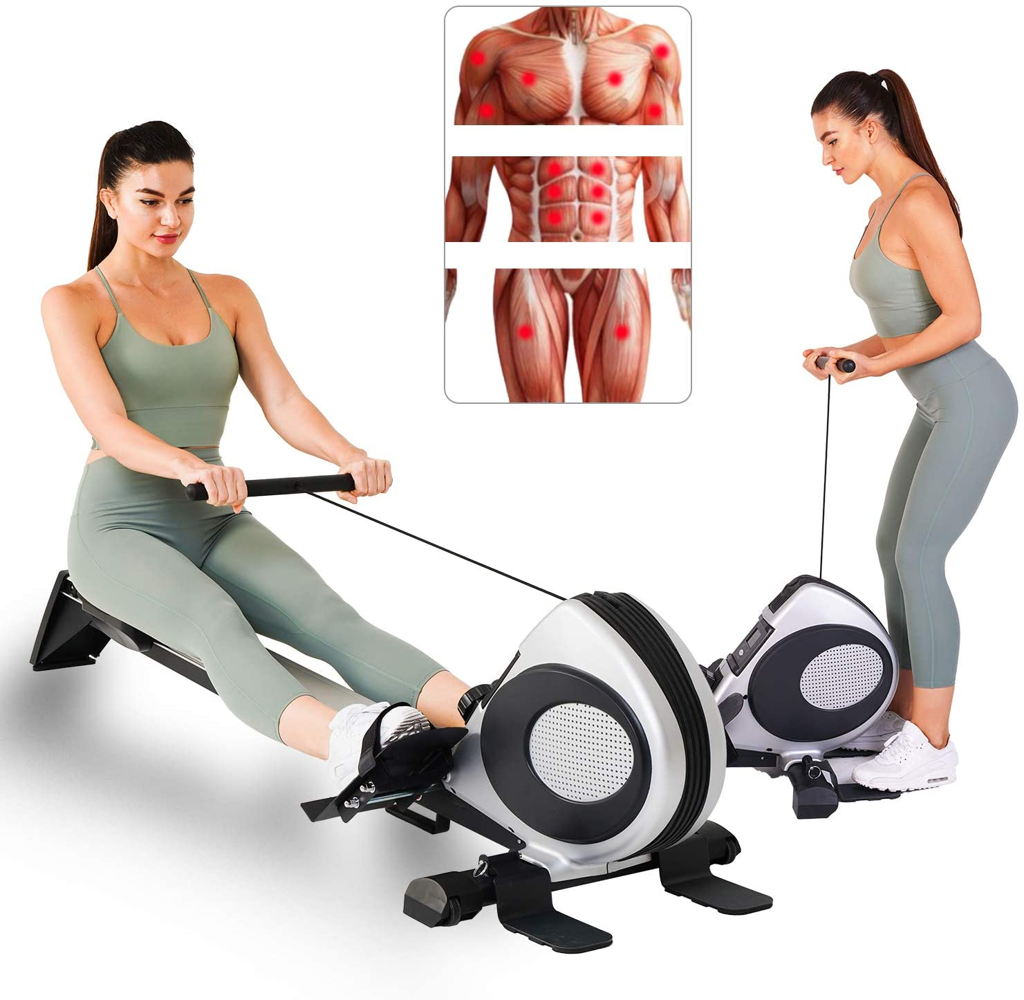 Magnetic Full-body Workout Rowing Machine