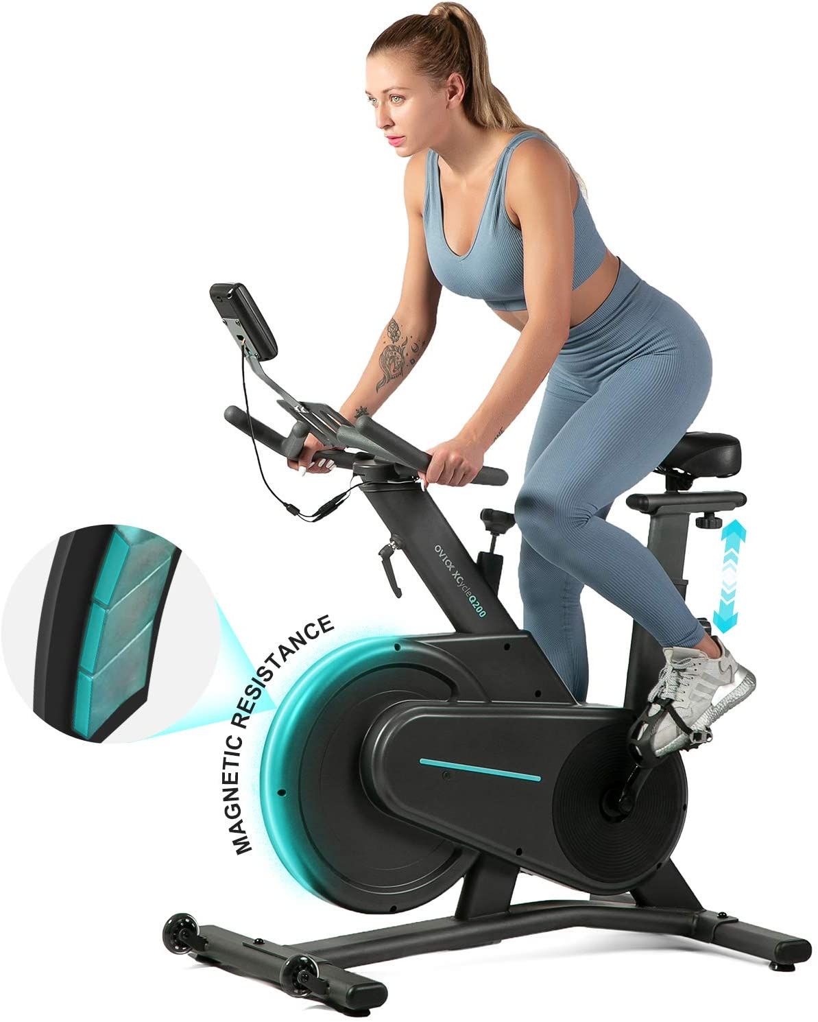 OVICX Magnetic Stationary Exercise Bike