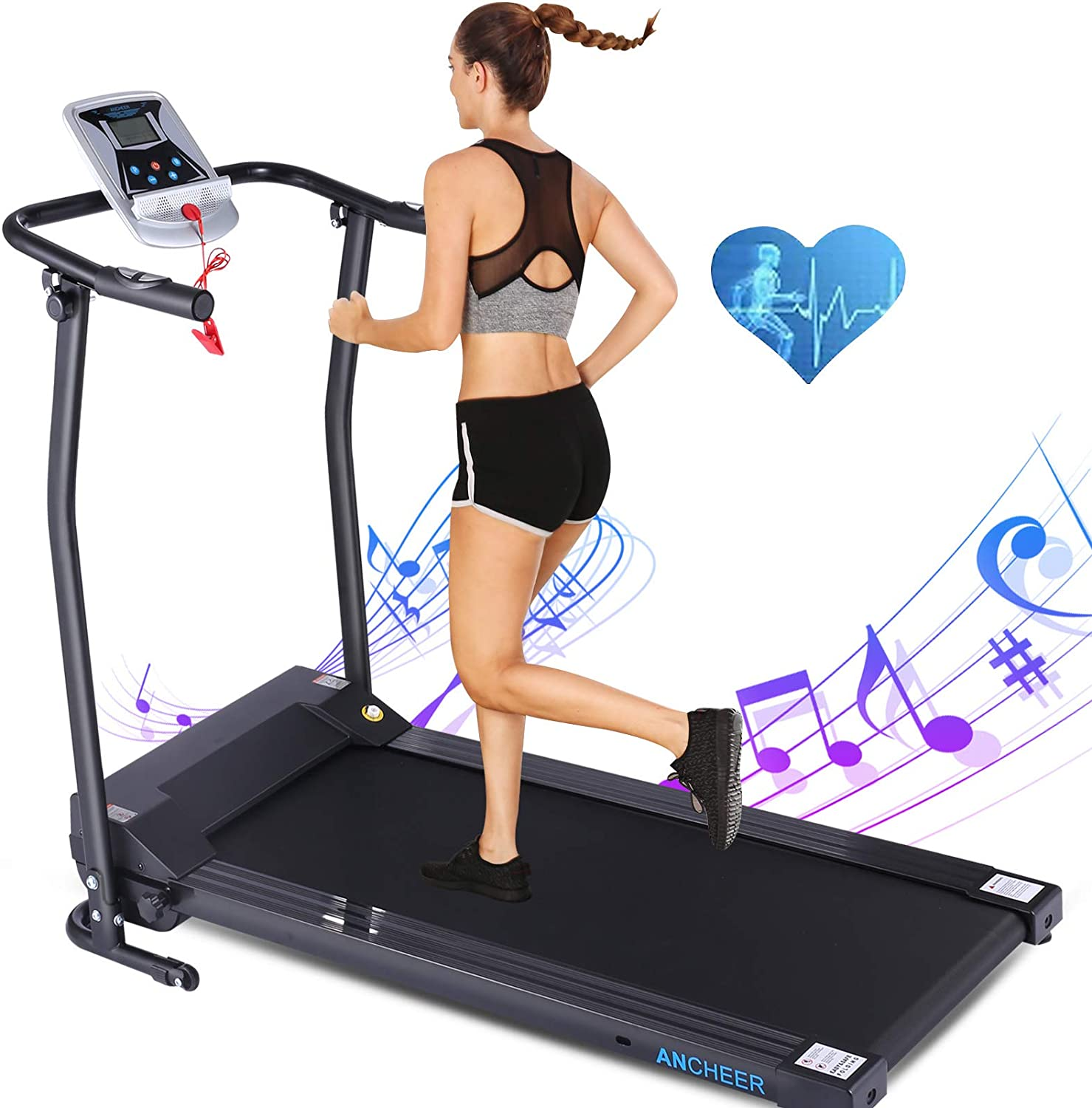 ANCHEER Portable Folding Electric Treadmill