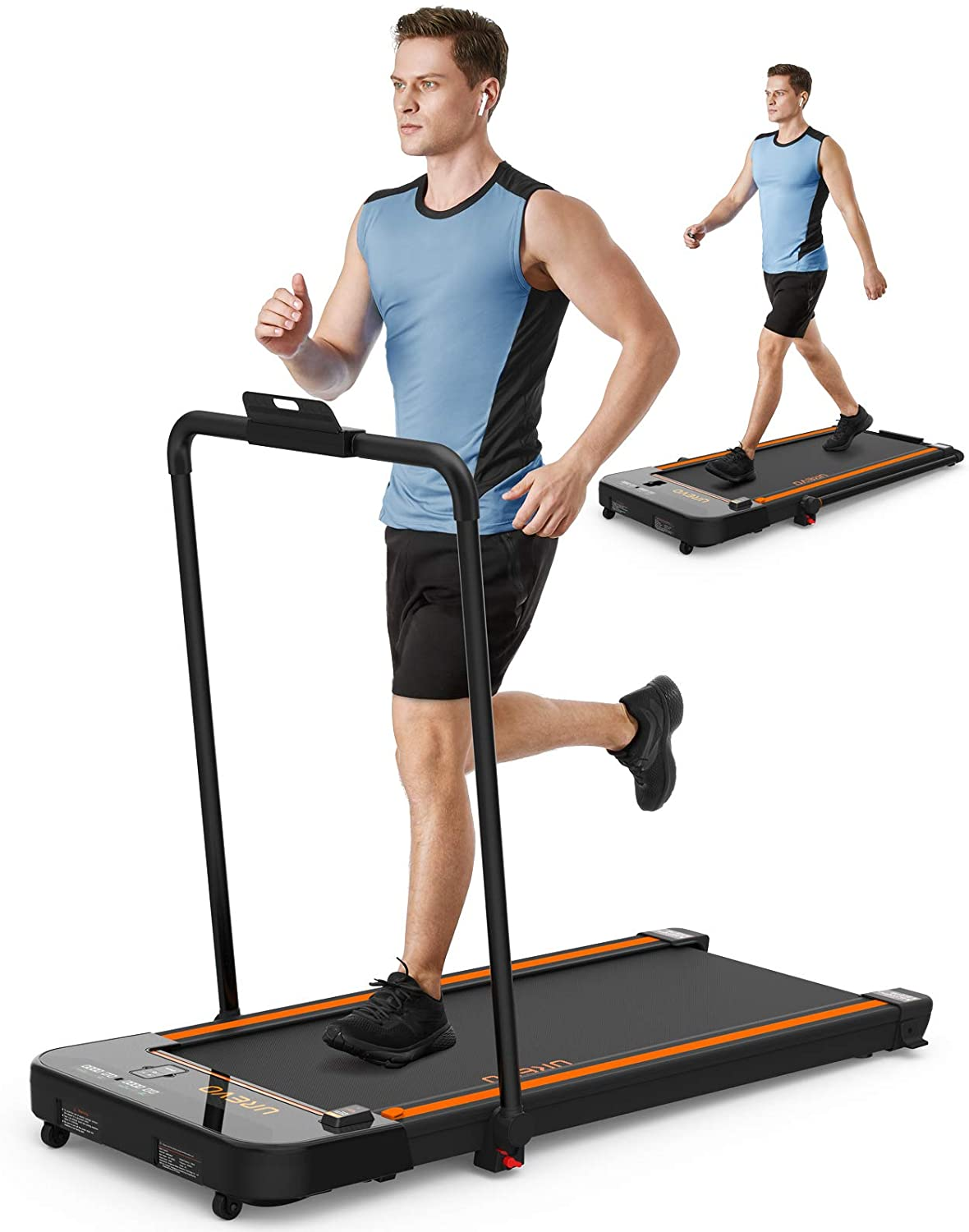UREVO 2 in 1 Foldable Treadmill