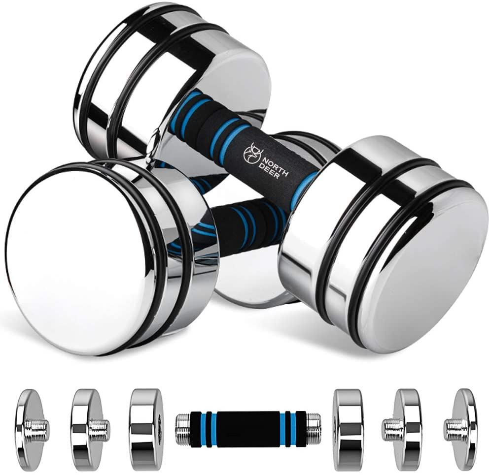 Northdeer Solid Steel Adjustable Dumbbell